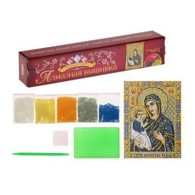 """Алмазная вышивка 30*40 """"Божья Матерь Иерусалимская"""" холст, емкость, стержень с кл. подуш"""