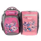 Рюкзак школьный Sternbauer 40*30*15 для девочки, + мешок для обуви, розовый