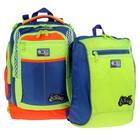 Рюкзак школьный Sternbauer 40*30*16 + мешок для обуви, зелёный/синий