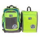 Рюкзак школьный с эргономичной спинкой Sternbauer 40*30*16 + мешок для обуви серый 7313