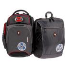 Рюкзак школьный с эргономичной спинкой Sternbauer 40*30*16 + мешок для обуви серый 7316