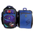 Рюкзак школьный с эргономичной спинкой Sternbauer 40*30*16 + мешок для обуви, + фонарик, синий