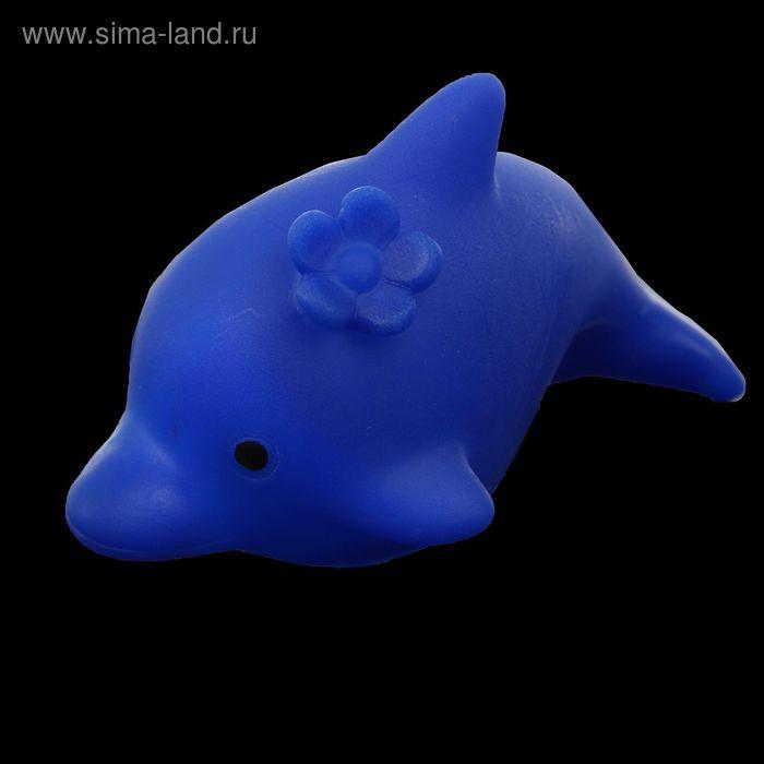 """Световой сувенир """"Дельфин с цветочком"""" 5х9х5,5 см"""