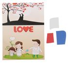 "Аппликация - открытка 3D ""Love"" из ЕVA"