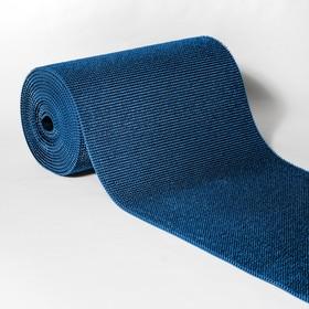 "Carpet bristly, width 95 cm, 11.8 m roll of ""Grass"", blue color"