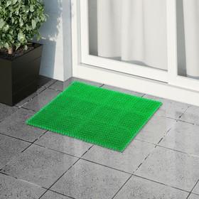 Покрытие ковровое щетинистое без основы «Травка», 40×53 см, цвет зелёный