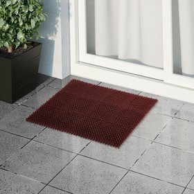 Покрытие ковровое щетинистое без основы «Травка», 40×53 см, цвет коричневый Ош