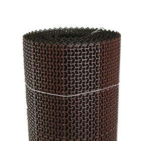Покрытие ковровое щетинистое без основы «Волна», 1×10 м, сегмент, цвет коричневый