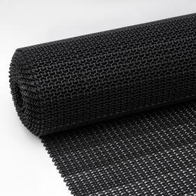 Покрытие ковровое щетинистое без основы «Волна», 1×10 м, сегмент, цвет чёрный