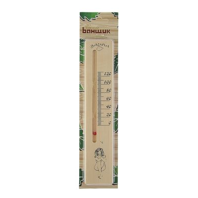 "Деревянный термометр д/бани""Сауна леди"", жидкостный,"