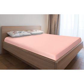 Простыня трикотажная на резинке, 80х200х20, цвет розовый, 125 гр/м2