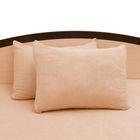 Наволочки махровые на молнии, 50х70 - 2шт, цвет персиковый, 160 гр/м2
