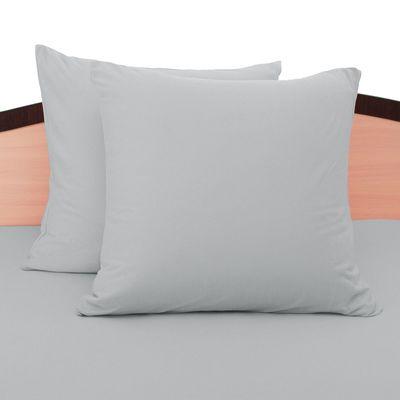 Наволочки трикотажные на молнии, 70х70 - 2шт, цвет серый, 125 гр/м2
