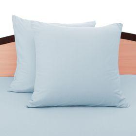 Наволочки трикотажные на молнии, 70х70 - 2шт, цвет голубой, 125 гр/м2