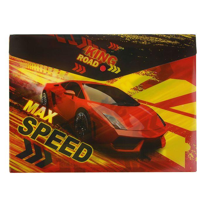 Папка-конверт на кнопке А4 180мкм Limpopo Max Speed, пластик