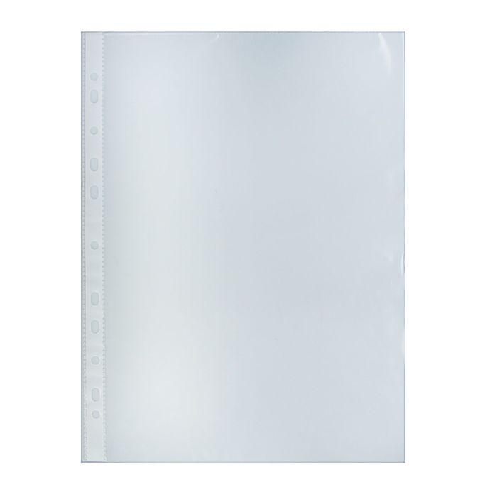 Файл-вкладыш А4, 30мкм с перфорацией, глянцевый, упаковка 100 штук