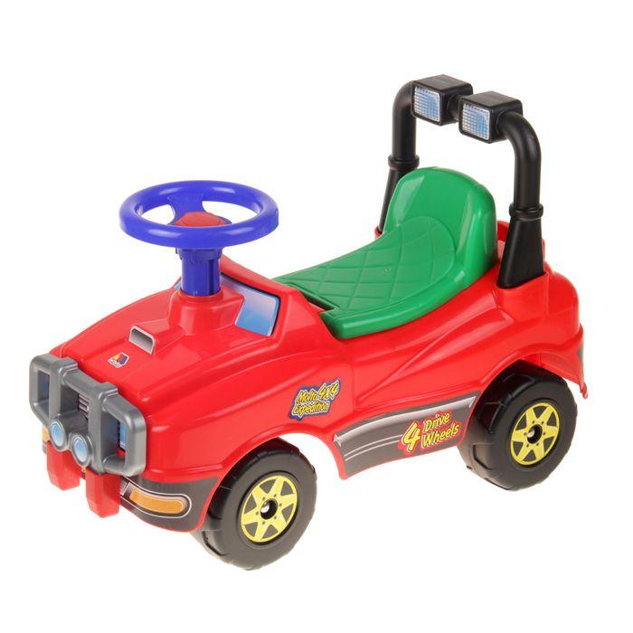 Автомобиль Джип-каталка - №2 (красный), без сигнала