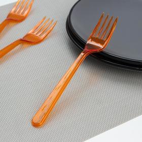 Набор вилок 18 см, 10 шт, цвет оранжевый