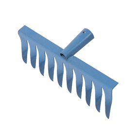 Грабли прямые, повёрнутый зубец, 10 зубцов, металл, тулейка 28 мм, без черенка Ош