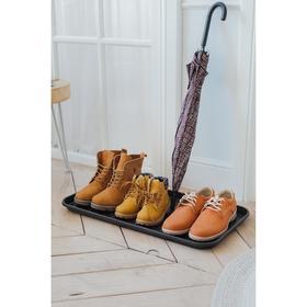 Лоток для обуви, 70×37 см, цвет чёрный - фото 7394205
