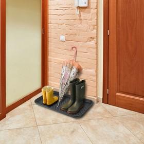 Лоток для обуви, 70×37 см, цвет чёрный - фото 4643547