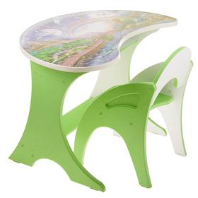 Набор мебели «Космошкола», столик, стульчик, цвет салатовый