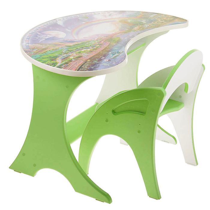 """Набор мебели """"Космошкола"""": столик, стульчик. Цвет салатовый"""