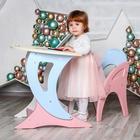 Набор мебели регулируемый «Парус «, стол, стул, цвет розово-голубой - фото 958791