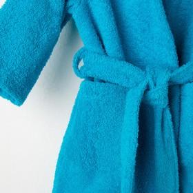 Халат махровый детский, размер 32, цвет морской, 340 г/м2 хл.100% с AIRO - фото 1394931