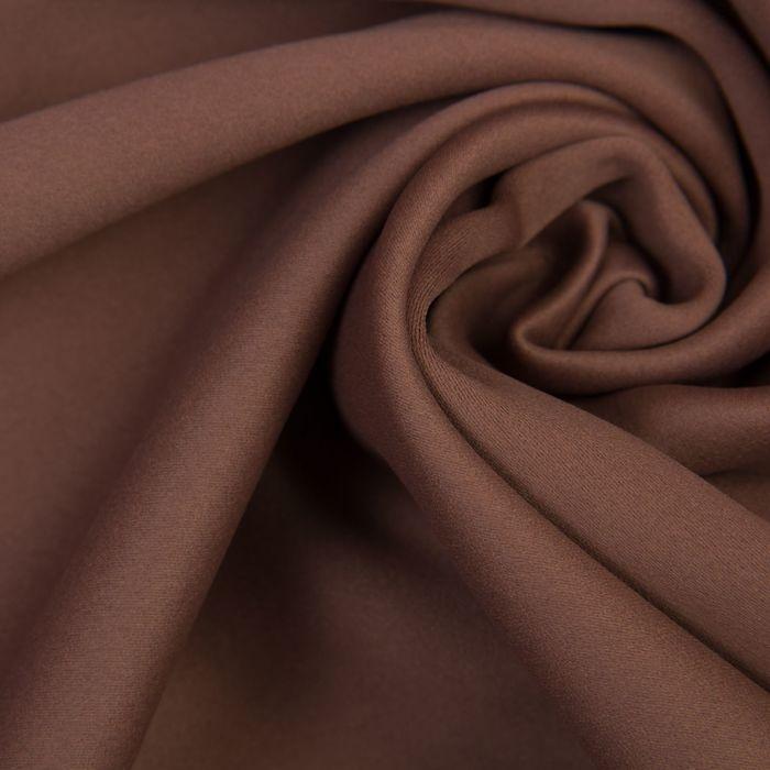 Ткань портьерная, 215 гр/м2, дл. 10 м, шир. 2,8 м/, цв. Шоколад, блэкаут, 100% п/э