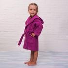 Халат махровый детский, размер 30, цвет розовый, 340 г/м2 хл.100% с AIRO - фото 105907243