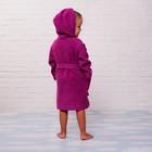 Халат махровый детский, размер 30, цвет розовый, 340 г/м2 хл.100% с AIRO - фото 105907244