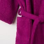 Халат махровый детский, размер 30, цвет розовый, 340 г/м2 хл.100% с AIRO - фото 105907246
