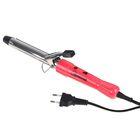 Плойка HOMESTAR HS-8007, 15 Вт, d=22 мм, алюминиевое покрытие, розовая