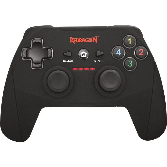 Геймпад Redragon Harrow, беспроводной, вибрация, для PC, PS3, USB, черный
