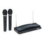 Набор беспроводных микрофонов DEFENDER MIC-155, радио 87,5–92 МГц, чёрный