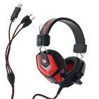 Гарнитура игровая Ridley, кабель 2.2 м, чёрно-красная