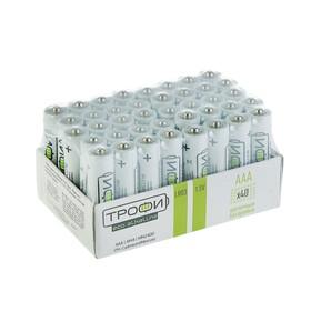 "Батарейка алкалиновая ""Трофи"" Eco, AAA, LR03-40BOX, 1.5В, набор 40 шт."