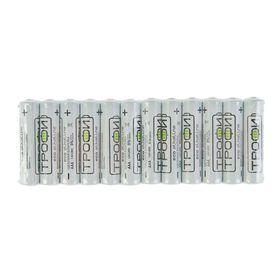 "Батарейка алкалиновая ""Трофи"" Eco, AAA, LR03-12S, 1.5В, спайка, 12 шт."