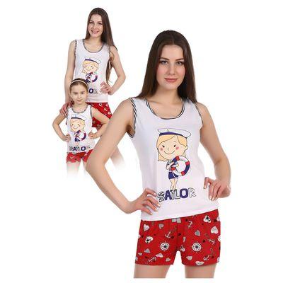 Комплект женский (майка, шорты) Ракушка цвет МИКС, р-р 54