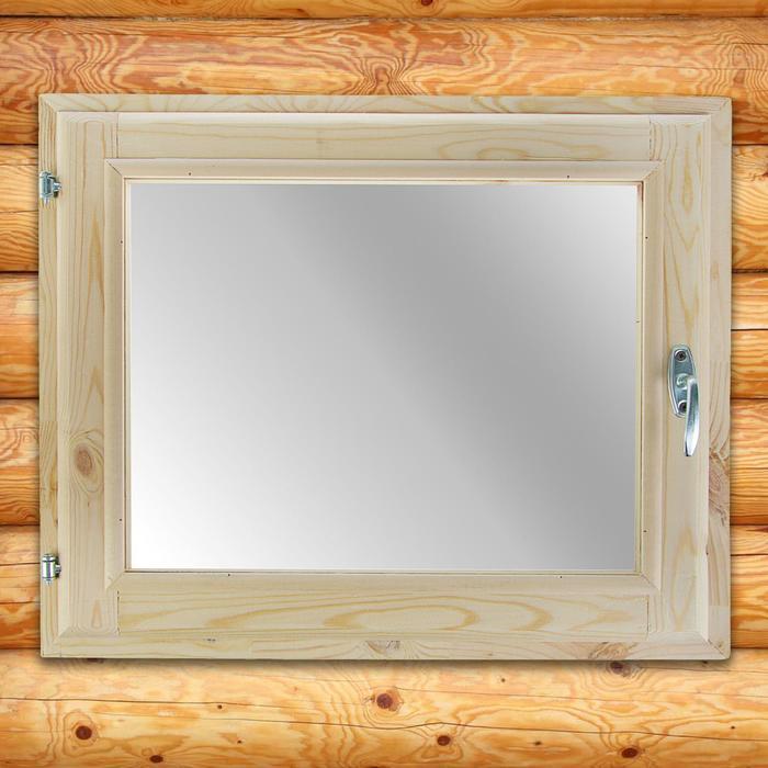 Окно 50х60 см, двойное стекло, хвоя