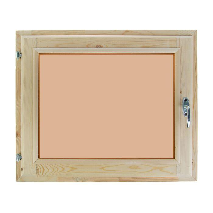 Окно 50х60 см, двойное стекло, хвоя, тонированное