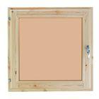 Окно 60х60 см, двойное стекло, хвоя, тонированное