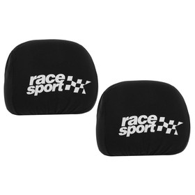 Covers for headrest Race Sport, black, set of 2 PCs