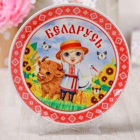 Тарелка с сублимацией 'Беларусь' Ош
