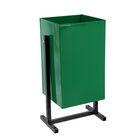 Урна металлическая Стандарт 1 (24л), зеленая