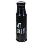 """Термос """"My bottle"""", 550 мл, чёрный, 7.5х25.5 см"""