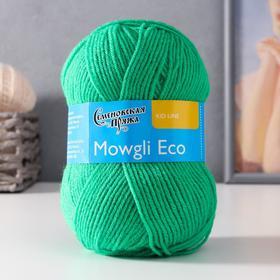 Пряжа Mowgli Eco (МауглиЭко) 90% акрил, 10% капрон 200м/50гр ярк.зел (47)