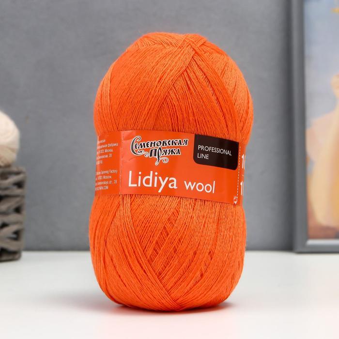 Пряжа LidiyaWool (ЛидияЧШ) 100% шерсть 1613м/100гр (морк_v2)