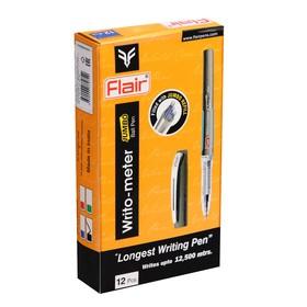 Ручка шариковая Flair Writo-Meter Jumbo, узел-игла 0.5 мм, (пишет 12 км), чёрная